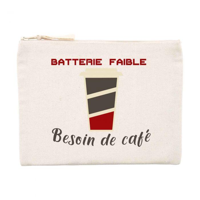 Pochette- Batterie faible Besoin de café