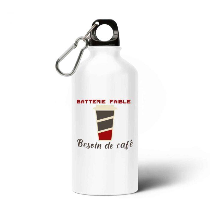 Gourde - Batterie faible Besoin de café