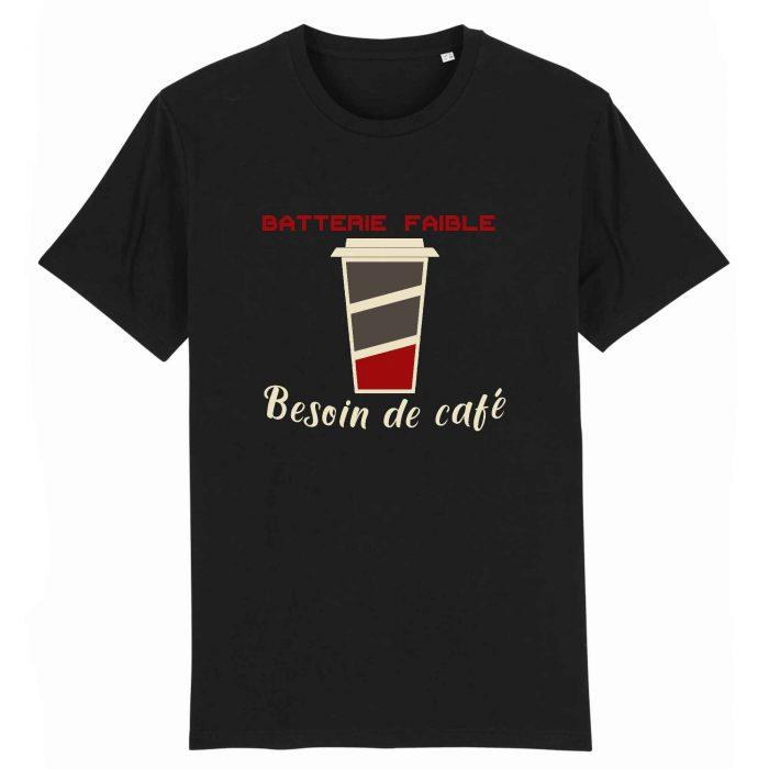 T-shirt - Batterie faible Besoin de café