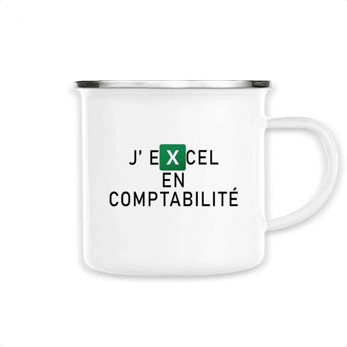 Mug émaillé - J'EXCEL en comptabilité