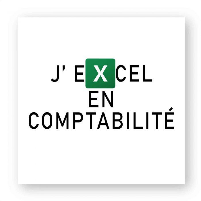 Stickers - J'EXCEL en comptabilité