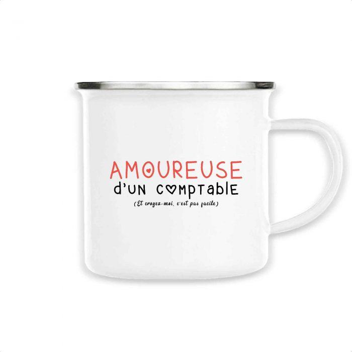 Mug émaillé - Amoureuse d'un comptable