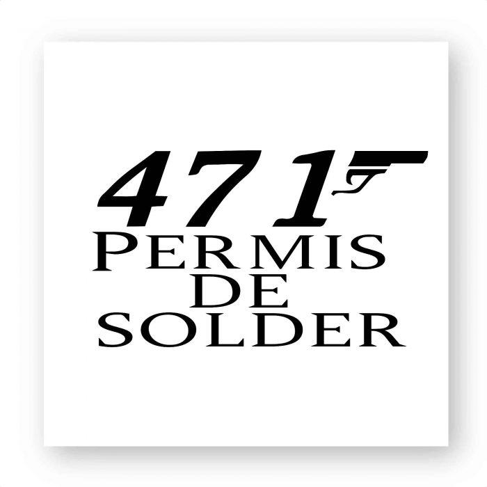 Stickers - 471 Permis de solder