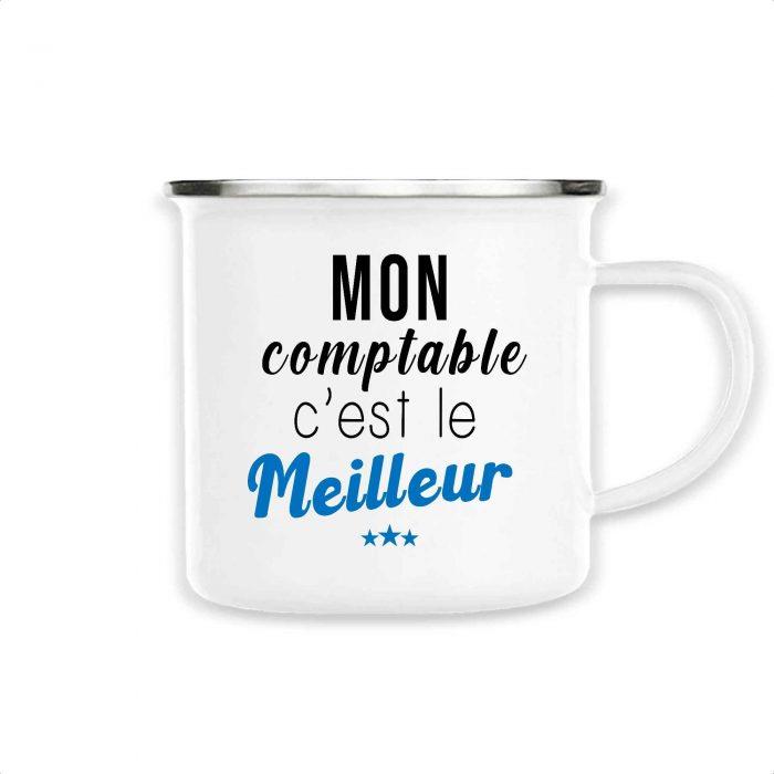 Mug émaillé - Mon comptable c'est le meilleur