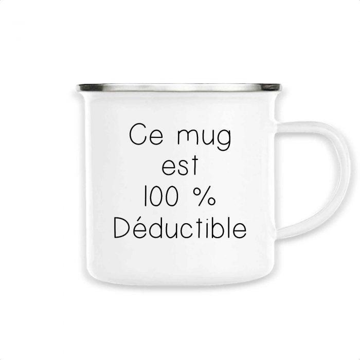 Mug émaillé - 100 % Déductible