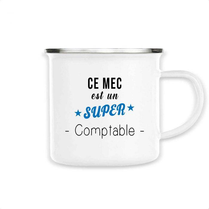 Mug émaillé - Ce mec est un super comptable
