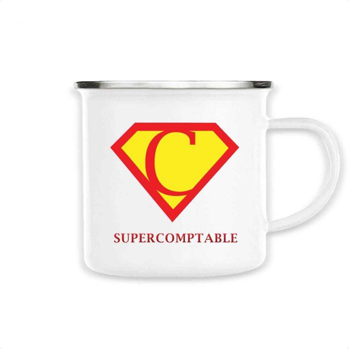 Mug émaillé - SUPERCOMPTABLE