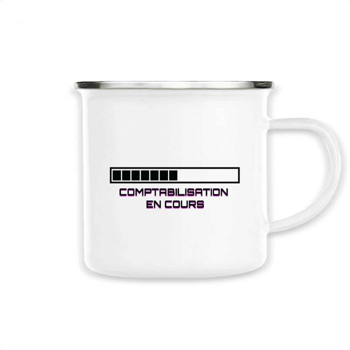 Mug émaillé - Comptabilisation en cours