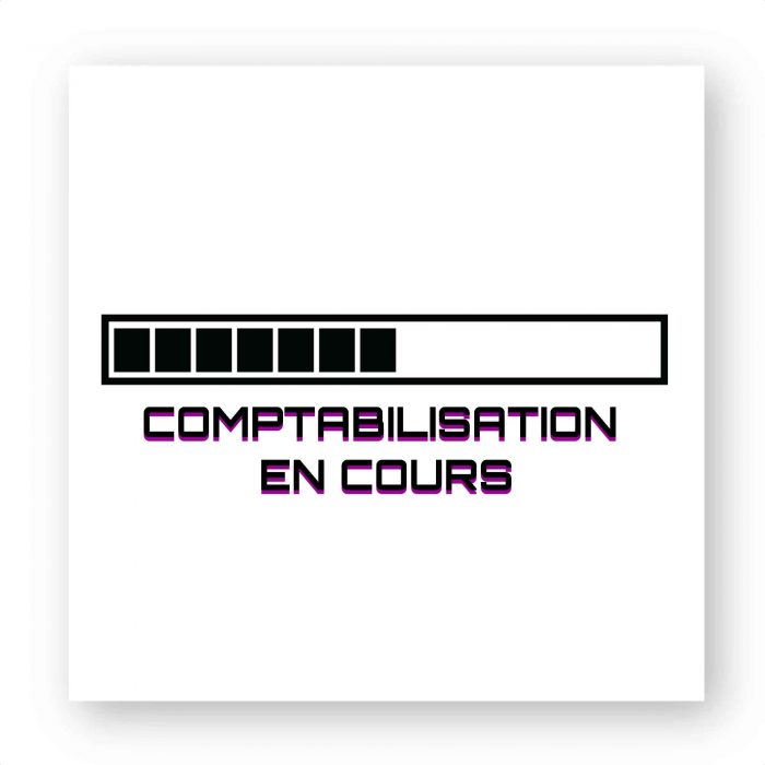 Sticker - Comptabilisation en cours