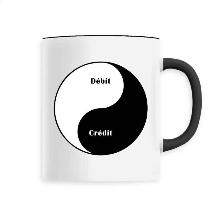Mug - Débit Crédit Yin Yang